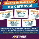 Confira o horário de funcionamento do metrô no Carnaval